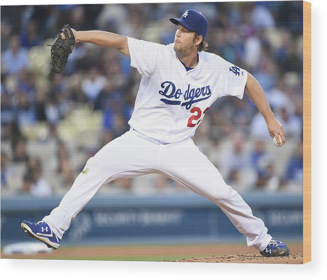 Clayton Kershaw Wood Print featuring the photograph Clayton Kershaw by Harry How