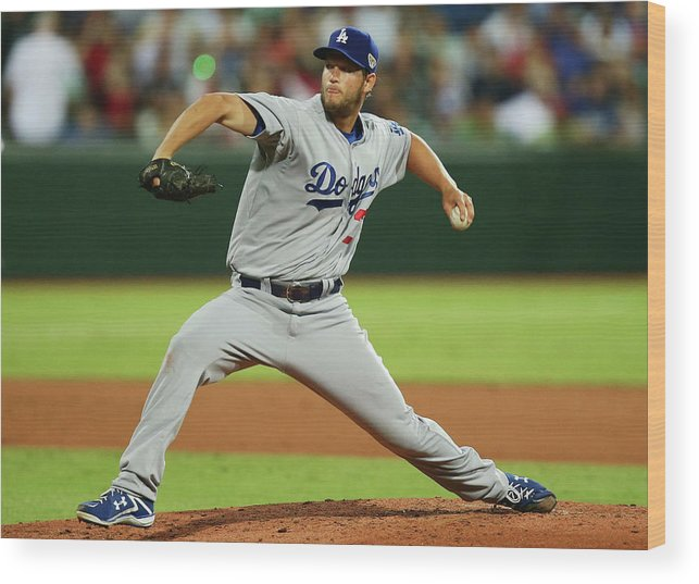 People Wood Print featuring the photograph Clayton Kershaw by Matt King