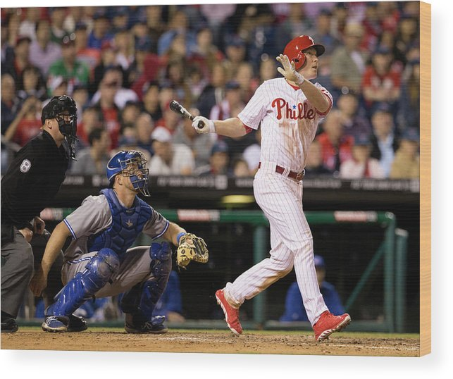 Majestic Wood Print featuring the photograph Cody Asche by Mitchell Leff