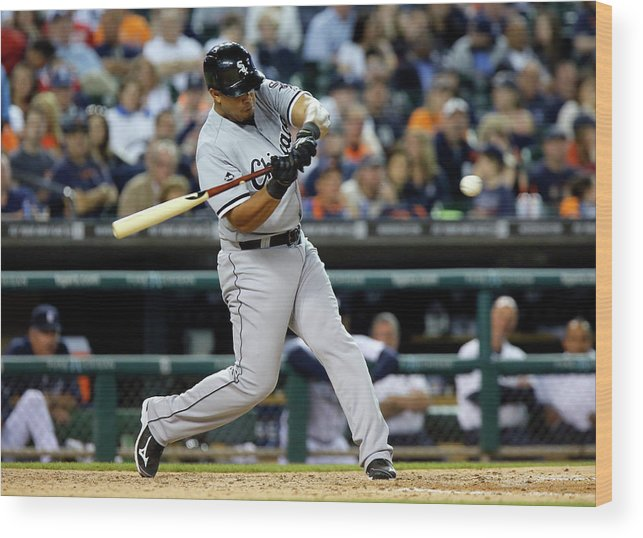 American League Baseball Wood Print featuring the photograph Conor Gillaspie by Duane Burleson