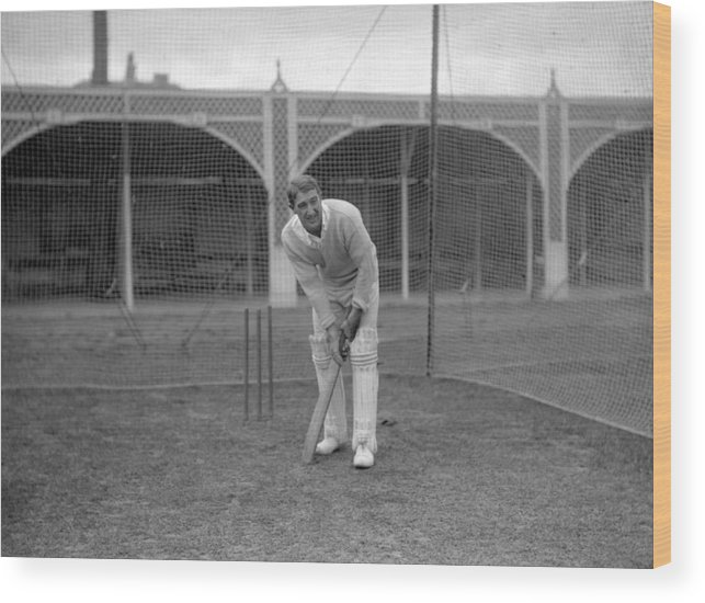 People Wood Print featuring the photograph Cricket - South Africa in British Isles - South Africa Nets - Lord's by PA Images