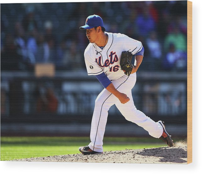 Ninth Inning Wood Print featuring the photograph Daisuke Matsuzaka by Al Bello