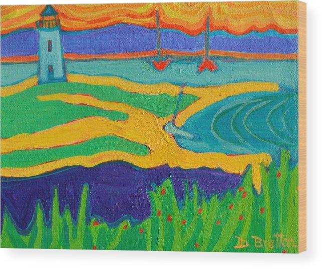 Edgartown Wood Print featuring the painting Edgartown Light by Debra Bretton Robinson