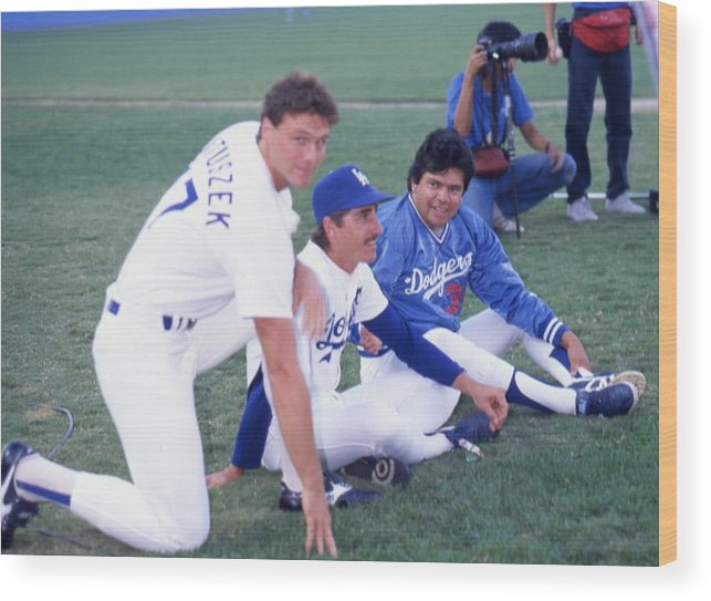 1980-1989 Wood Print featuring the photograph Fernando Valenzuela by Donaldson Collection