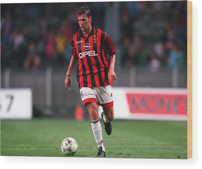 Zvonimir Boban Wood Print featuring the photograph FUSSBALL: italienische Liga 97/98 AC MAILAND 28.07.97 by Alexander Hassenstein