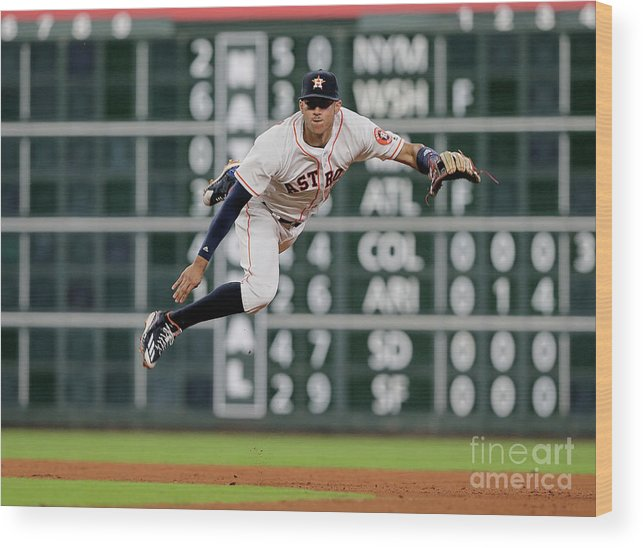 People Wood Print featuring the photograph Ian Desmond and Carlos Correa by Bob Levey