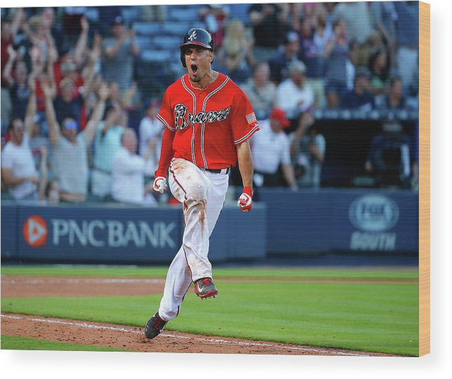 Atlanta Wood Print featuring the photograph Jace Peterson by Kevin C. Cox