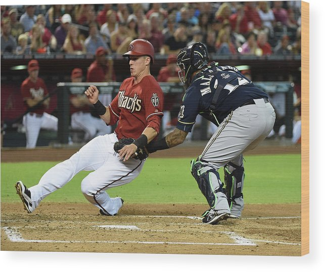 Second Inning Wood Print featuring the photograph Jake Lamb by Norm Hall
