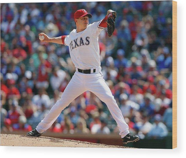 American League Baseball Wood Print featuring the photograph Jason Frasor by Tom Pennington