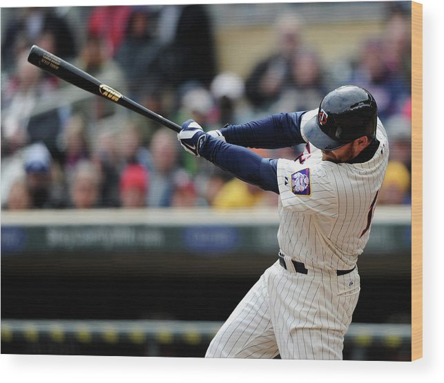 American League Baseball Wood Print featuring the photograph Jason Kubel by Hannah Foslien