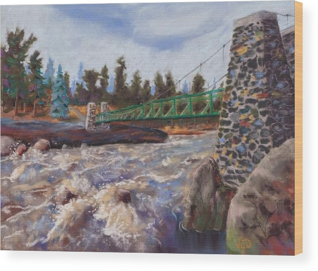 Jay Cooke Wood Print featuring the pastel Jay Cooke State Park by Vicki Danielson