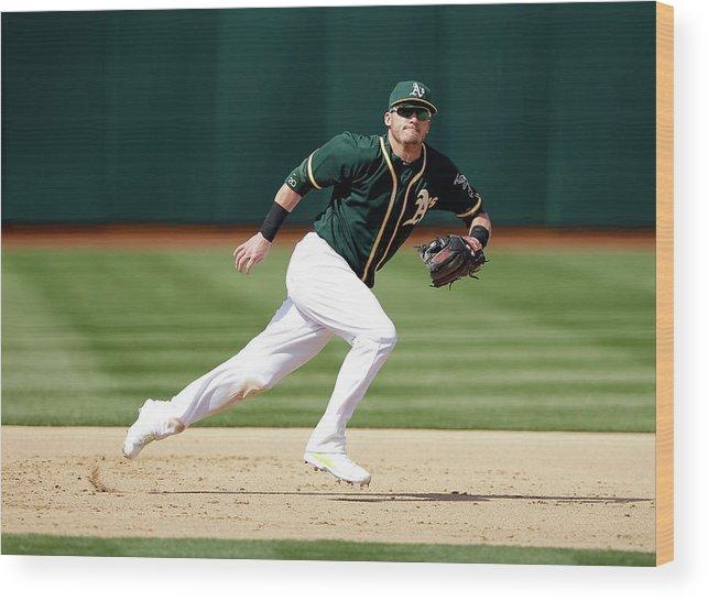 American League Baseball Wood Print featuring the photograph Josh Donaldson by Ezra Shaw