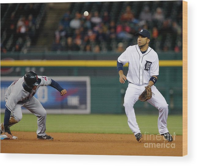 American League Baseball Wood Print featuring the photograph Michael Brantley by Duane Burleson