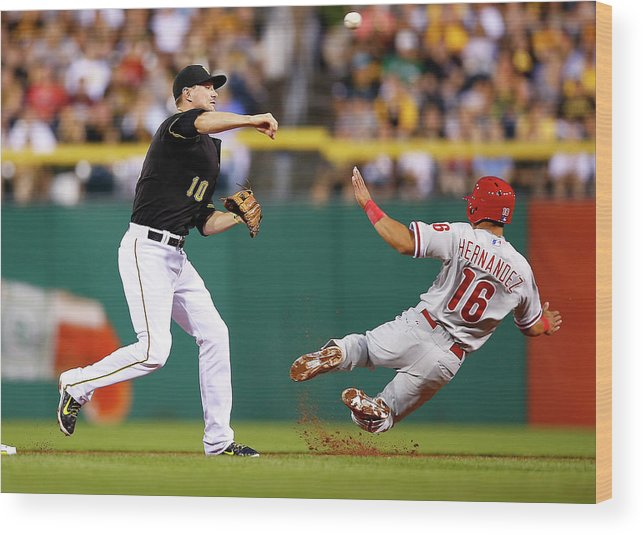 Double Play Wood Print featuring the photograph Neil Walker by Jared Wickerham