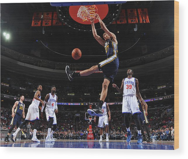 Nba Pro Basketball Wood Print featuring the photograph Rudy Gobert by Jesse D. Garrabrant