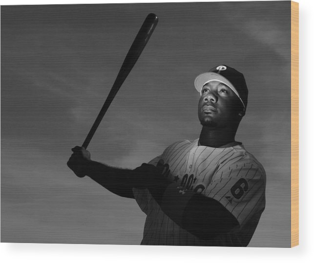 Media Day Wood Print featuring the photograph Ryan Howard by Al Bello