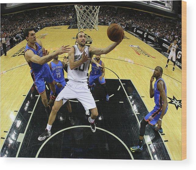 Playoffs Wood Print featuring the photograph Steven Adams by Ronald Martinez