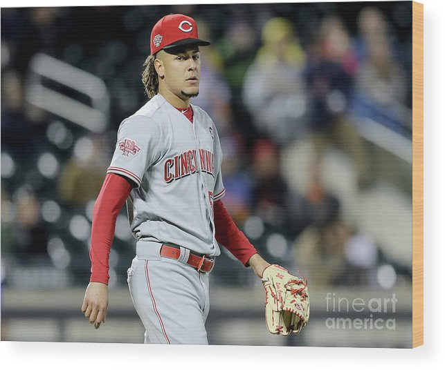 Three Quarter Length Wood Print featuring the photograph Todd Frazier and Luis Castillo by Elsa
