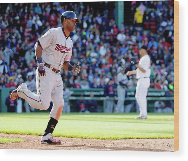 People Wood Print featuring the photograph Torii Hunter by Winslow Townson
