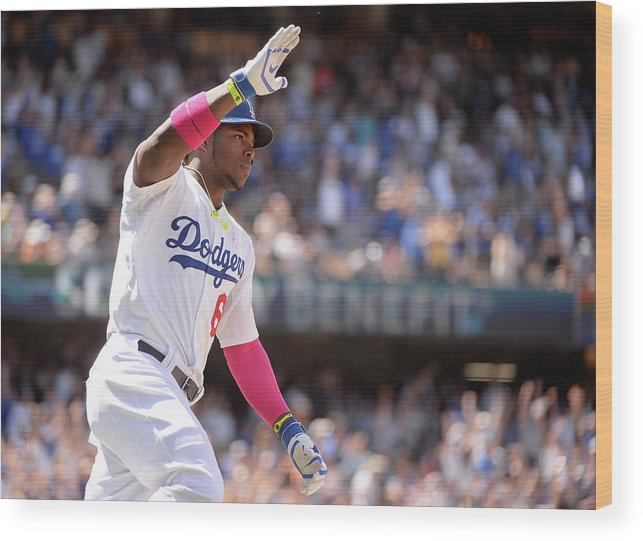 American League Baseball Wood Print featuring the photograph Yasiel Puig by Harry How