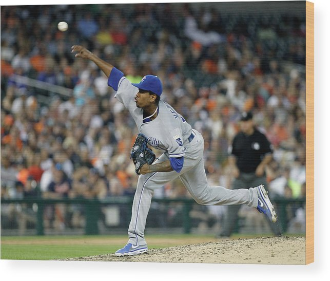 People Wood Print featuring the photograph Yordano Ventura by Duane Burleson