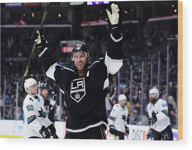 Playoffs Wood Print featuring the photograph San Jose Sharks V Los Angeles Kings - by Harry How