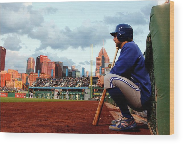 Professional Sport Wood Print featuring the photograph Toronto Blue Jays V Pittsburgh Pirates by Justin K. Aller