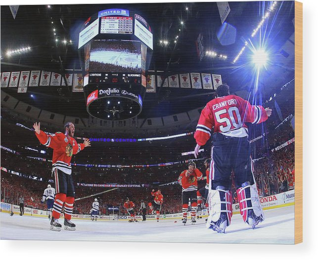 Playoffs Wood Print featuring the photograph 2015 Nhl Stanley Cup Final - Game Six by Bruce Bennett