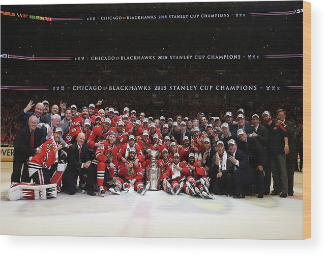 Playoffs Wood Print featuring the photograph 2015 Nhl Stanley Cup Final - Game Six by Dave Sandford