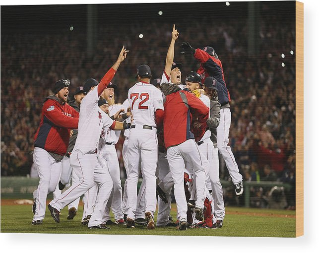 Playoffs Wood Print featuring the photograph World Series - St Louis Cardinals V by Rob Carr