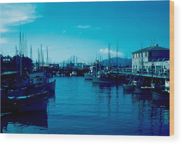 Fisherman's Wharf Wood Print featuring the photograph Fisherman's Wharf 1955 by Cumberland Warden