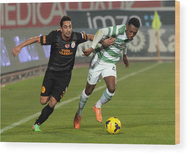 Sport Wood Print featuring the photograph Galatasaray v Celtic - Turkish Airlines Antalya Cup Final by Anadolu Agency