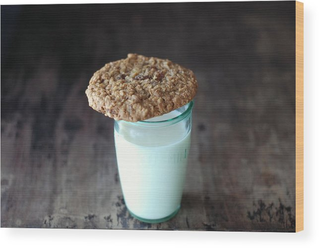 Milk Wood Print featuring the photograph Glass Of Milk by Shawna Lemay