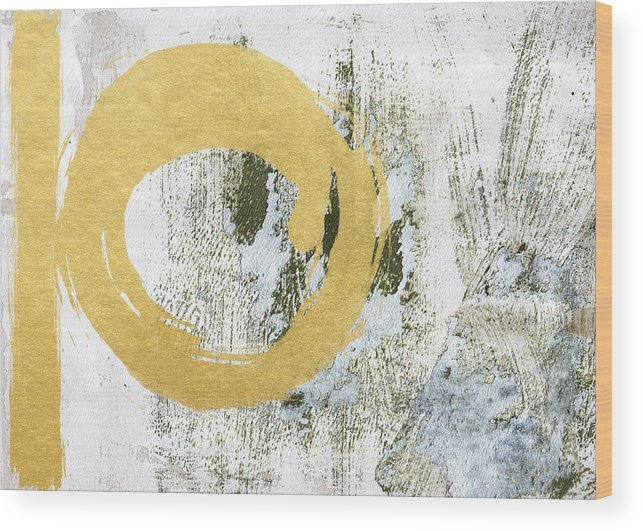 Gold Wood Print featuring the painting Gold Rush - Abstract Art by Linda Woods