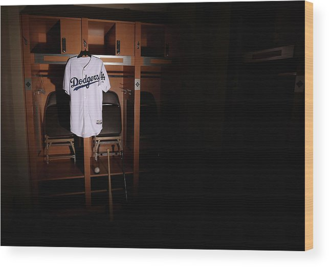 Media Day Wood Print featuring the photograph Los Angeles Dodgers Photo Day by Christian Petersen