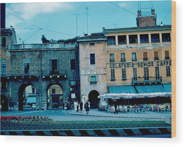 Vicenza Wood Print featuring the photograph Old City Gate Vicenza 2 1962 by Cumberland Warden