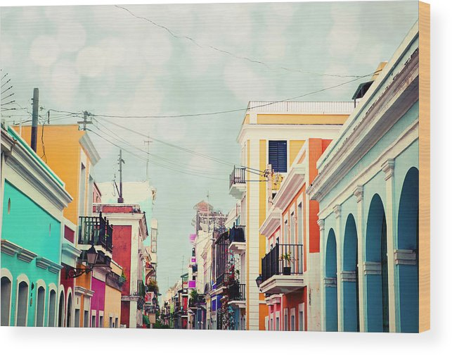 San Juan Wood Print featuring the photograph Old San Juan Special Request by Kim Fearheiley