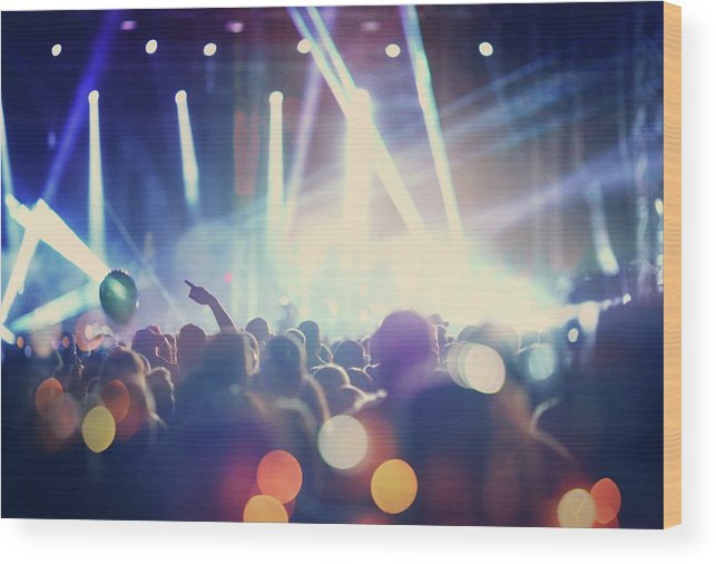 Event Wood Print featuring the photograph Rock Concert by Gilaxia