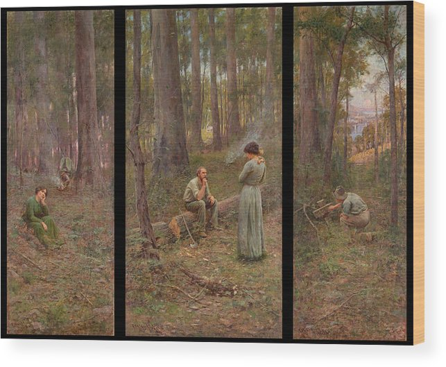 Frederick Mccubbin Wood Print featuring the painting The pioneer by Frederick McCubbin