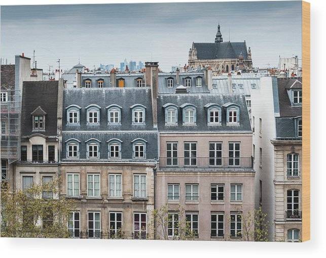 Built Structure Wood Print featuring the photograph Traditional Buildings In Paris by Mmac72