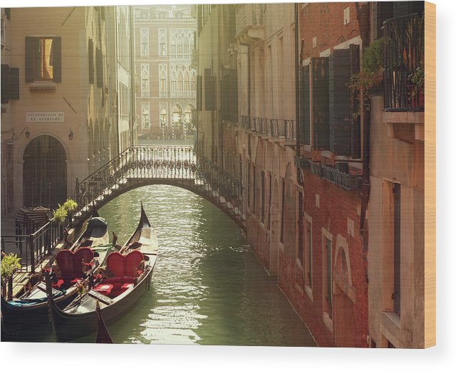 Veneto Wood Print featuring the photograph Venetian Canal by Mammuth
