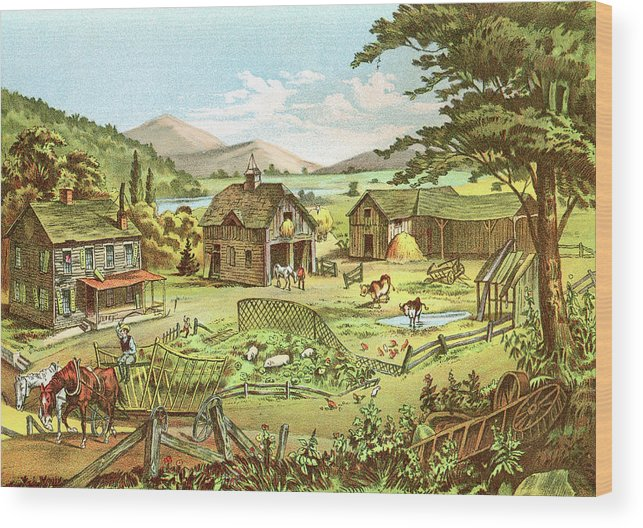 Horse Wood Print featuring the digital art Woodland Home Ten Years Later In Hands by Nnehring