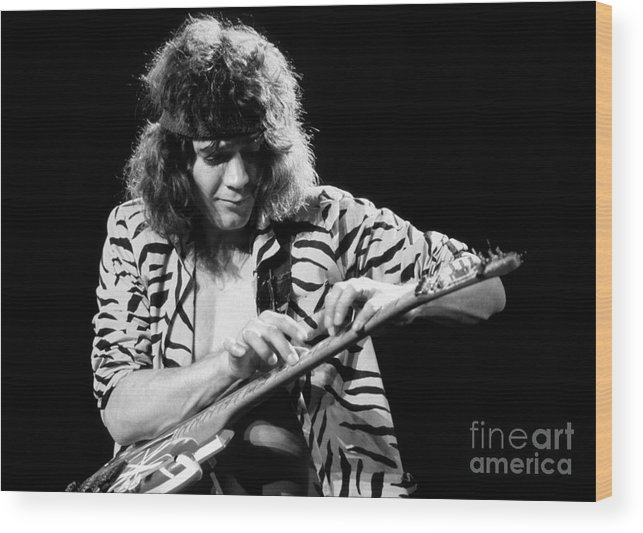 Van Halen Wood Print featuring the photograph Eddie Van Halen 1984 by Chris Walter