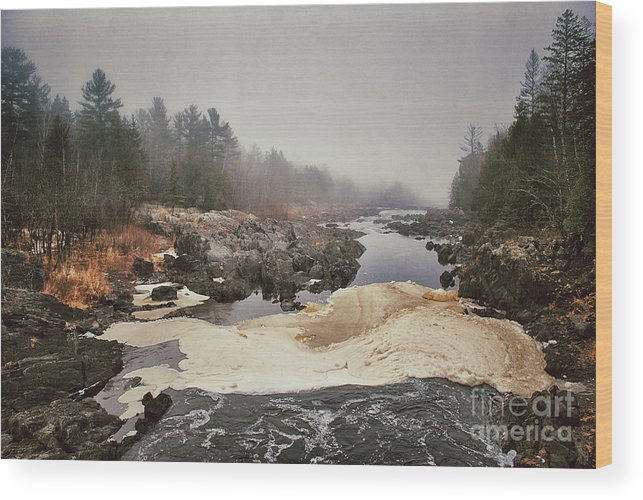 St Louis River Wood Print featuring the photograph Foamy Root Beer River by Ever-Curious Photography