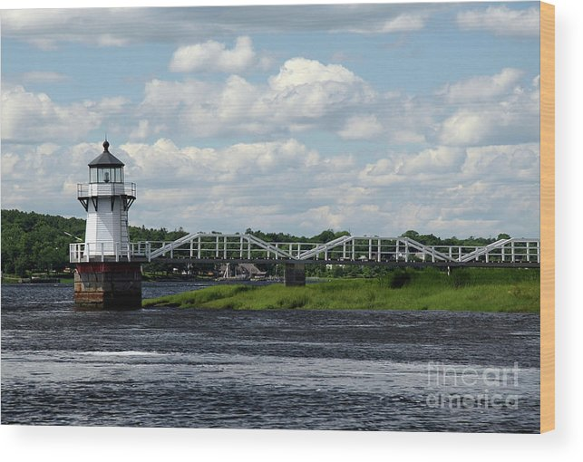 Doubling Point Light Wood Print featuring the photograph Lace Lighthouse by Brenda Giasson