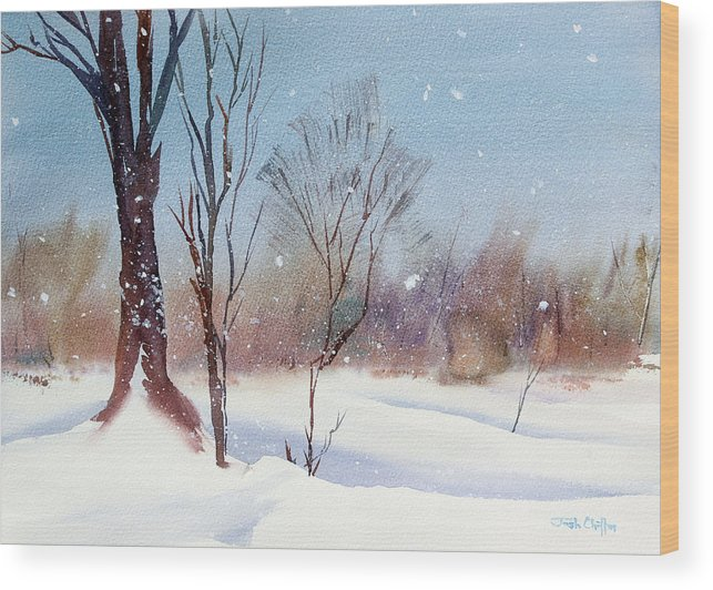 Winter Landscape Wood Print featuring the painting Today's Blanket. by Josh Chilton