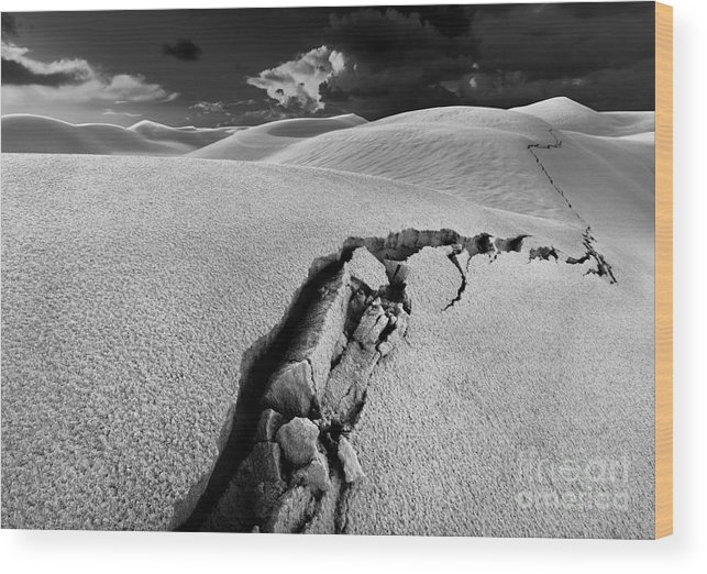 Crack Wood Print featuring the photograph The Crack of Dawn by Julian Cook