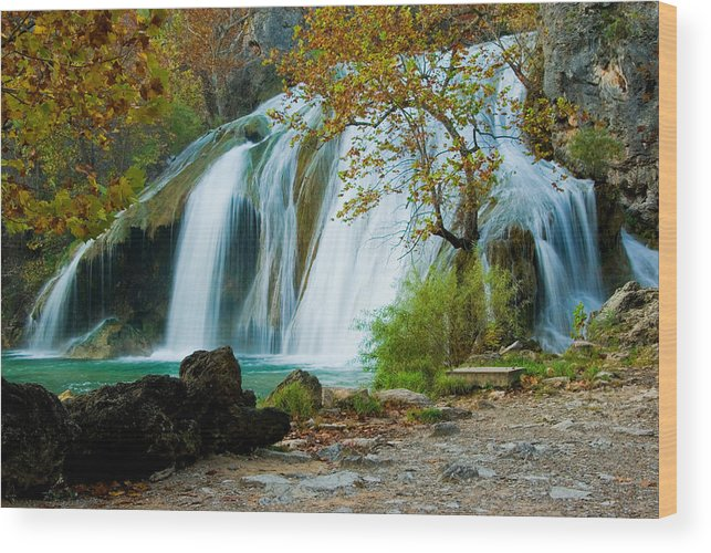 Waterfall Wood Print featuring the photograph Turner Falls by Iris Greenwell