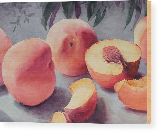 Still Life Wood Print featuring the painting A Bumper Crop by Faye Ziegler