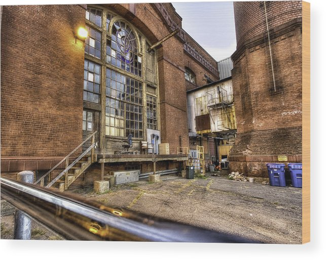 Factory Wood Print featuring the photograph Behind the Paper Plant by John Hoey